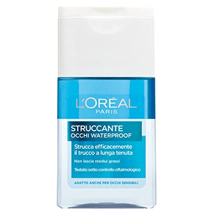 first rate best wholesaler official shop L'Oréal Paris Struccante per Occhi Waterproof Strucca Efficacemente il  Trucco a Lunga Tenuta, 125 ml