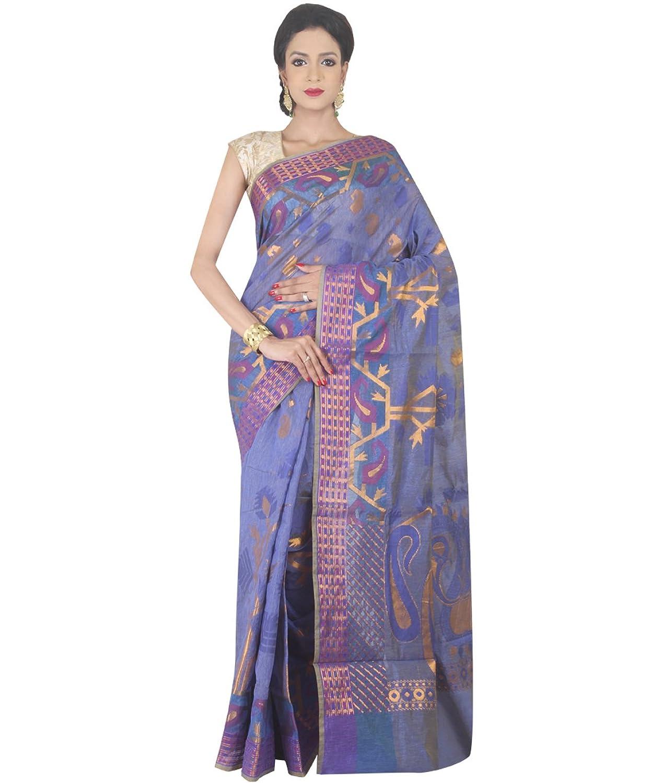 Indian Ethnic Banarasi Art Silk Blue Banarasi Handloom Saree