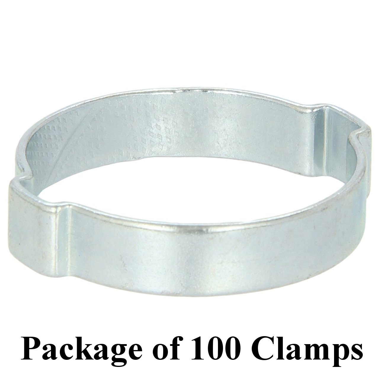Size 5/8'' (18 mm), Oetiker Double Ear Clamps, Zinc-Plated Steel Hose Clamp, 7 Pack Sizes Available (100)