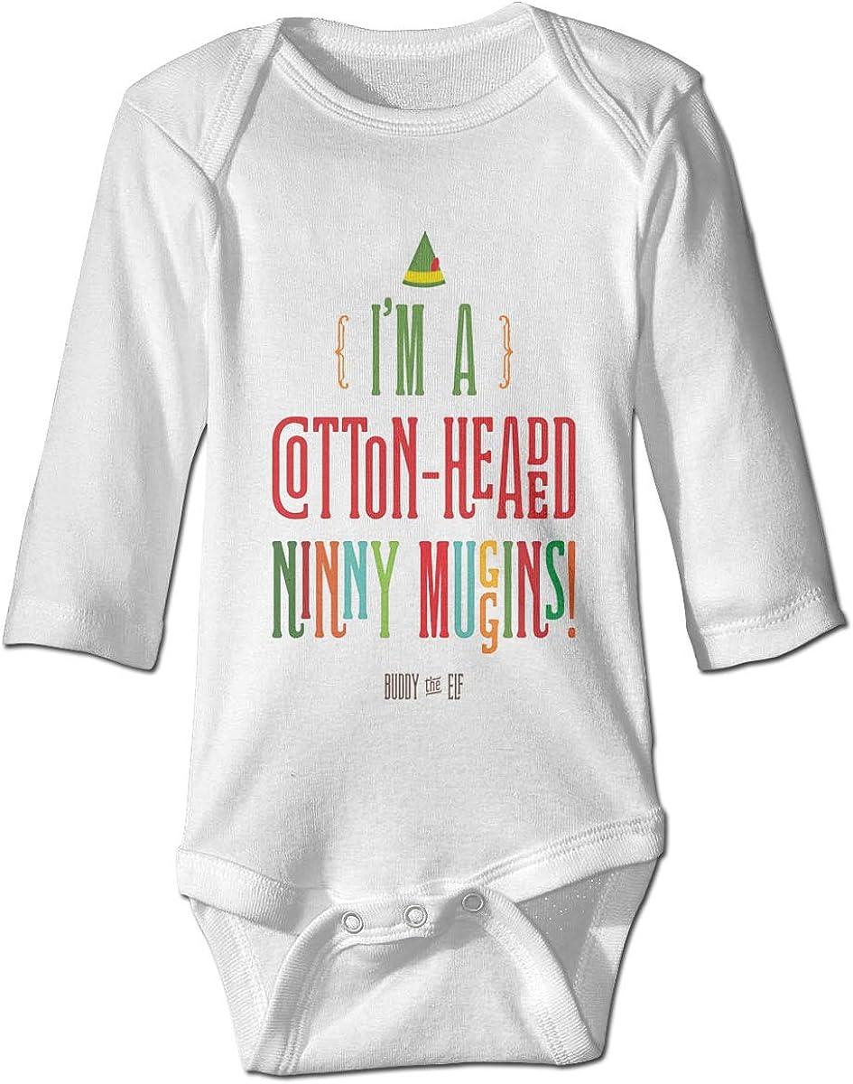 Marsherun Baby Boys Girls Im A Cotton-Headed Ninny Muggins Long Sleeve Bodysuit Clothes Playsuit