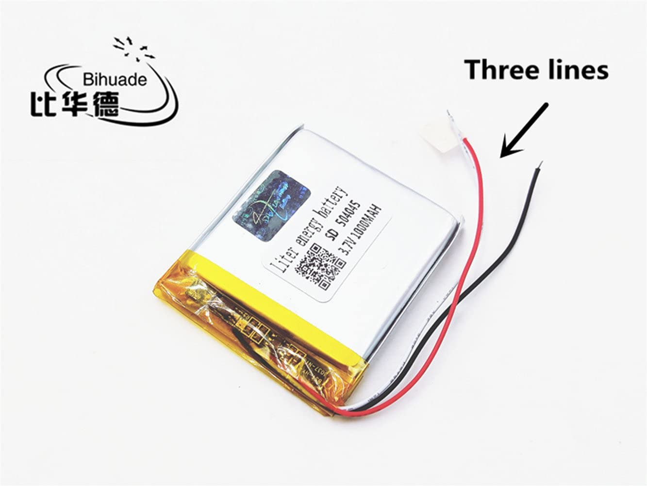 BIHUADE 3.7V 501225 110mah Polymer Lithium Battery for MP4 GPS MP3 Bluetooth Stereo DIY Gift