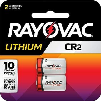 Rayovac batería de Litio para Fotos CR2, 3 voltios, Paquete de 2 ...