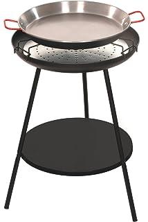 Alperk Roc - Paellero Barbacoa, 55 x 55 x 82 cm, Color Negro