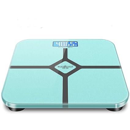 JXXDQ Pesaje Inteligente básculas de baño con Pesas Digitales de Alta precisión para el Cuerpo,