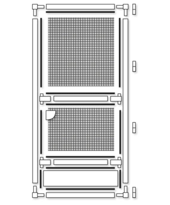 Wei/ß 120 x 240 cm Schellenberg 70062 Insektenschutz-T/ür PREMIUM Fliegengitter mit Rahmen