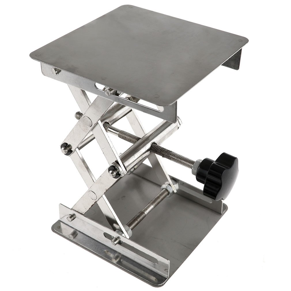 4'' Stainless Steel Lab Stand Table Scissor Lift laboratory Jiffy Jack 100*100mm Emma
