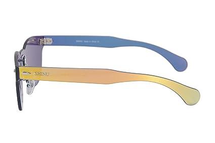 SHINU Lunettes de Soleil en Miroir à Lunette Ronde Classique Lunettes de Soleil à une Pièce en Forme de Partie UV400 Protection Lunettes de Soleil pour Femmes-SH71002(c4) 1CB2RjKTfR