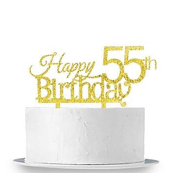 Amazon INNORU Happy 55th Birthday Cake Topper