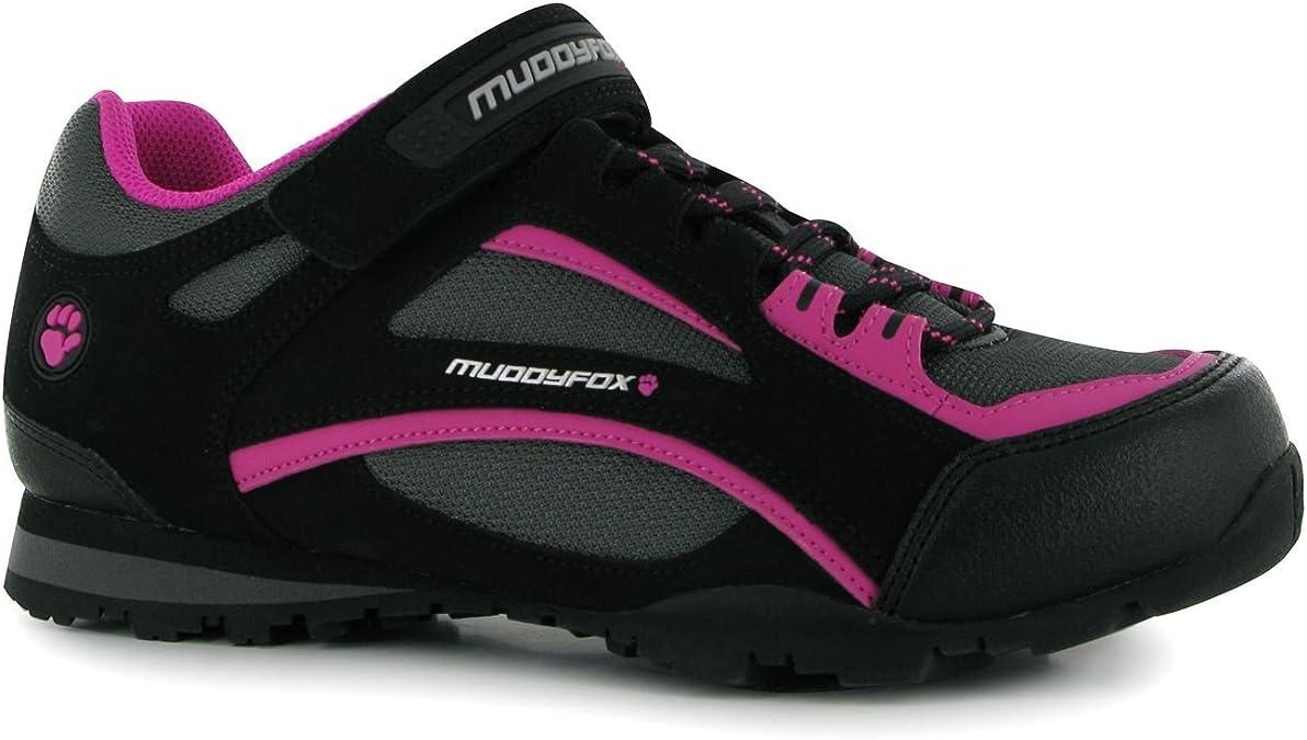 Muddyfox - Zapatillas de Ciclismo para Mujer Negro Negro/Gris ...