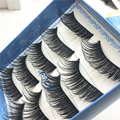 YJYdada 1 Box Luxury 3D False Lashes Fluffy Strip Eyelashes Long Natural Party (Best Nail Salon In Katy)