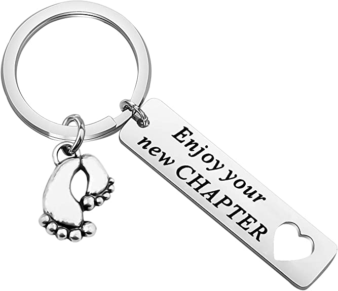 Enjoy Your New Chapter Keyring