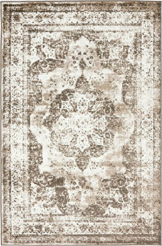 Unique Loom 3134094 Sofia Collection Traditional Vintage Beige Area Rug, 4' x 6' Rectangle, Light Brown