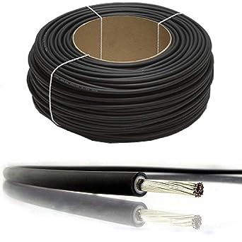 nominal CC 6 mm/² 10 mm/² Cable PV para panel solar con doble aislamiento de calidad de 4 mm/² negro y rojo de BMF DIRECT/® Negro 1800 V MC4 Connectors 2 Pairs