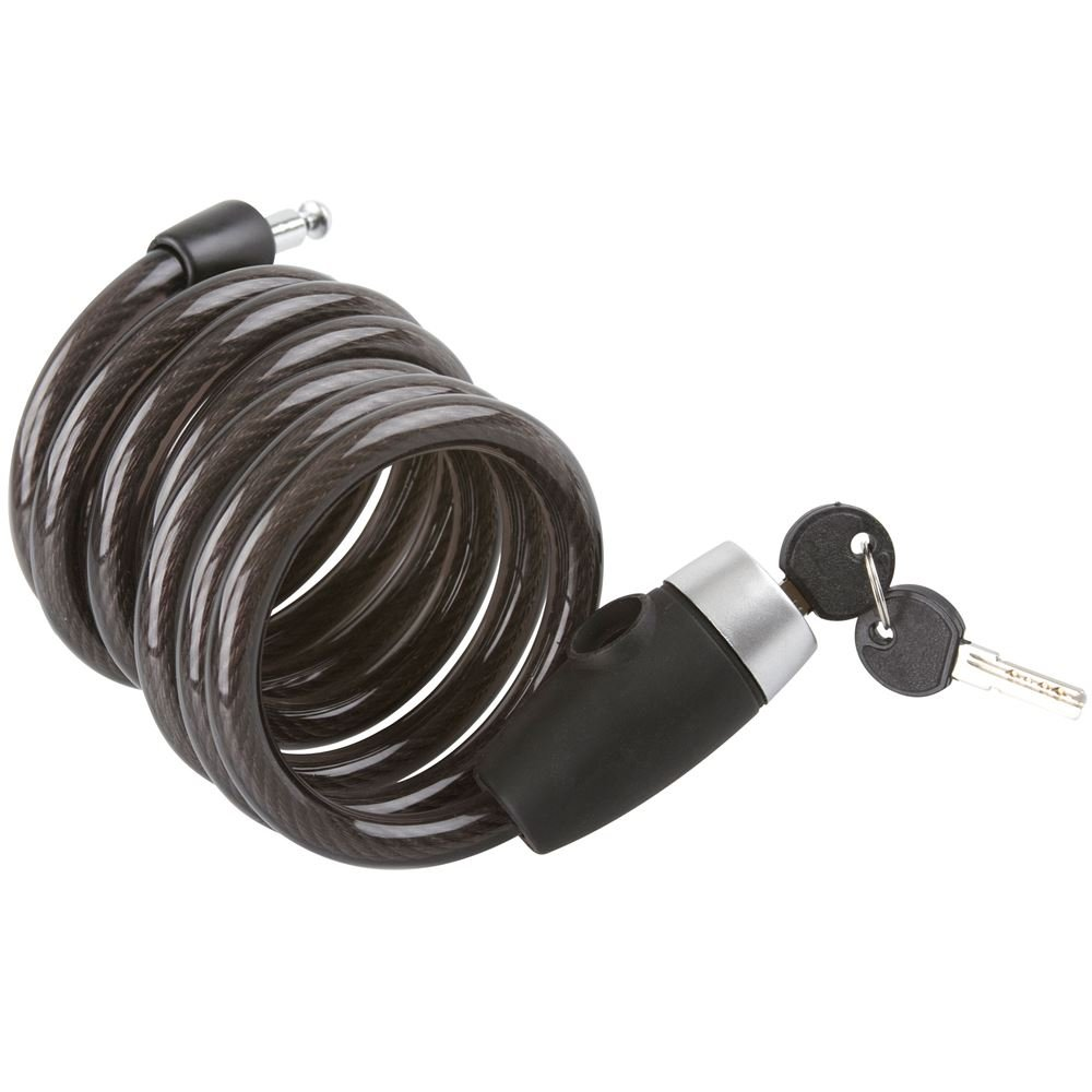 Rage Powersports Self-Coiling Cable Lock for Bicycles and Motorcycles