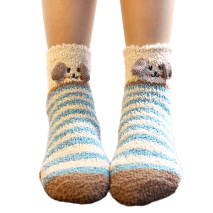 Un par suave calcetines para dormir calcetines calcetines calcetines lindo piso-A11