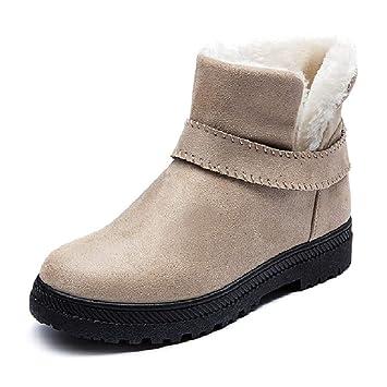 15f5d067 LIANGXIE Botas de Nieve de Moda para Mujer Botas de Invierno cálido Botas  Cortas Planas de Gran tamaño para Mujeres Ms Zapatos ...