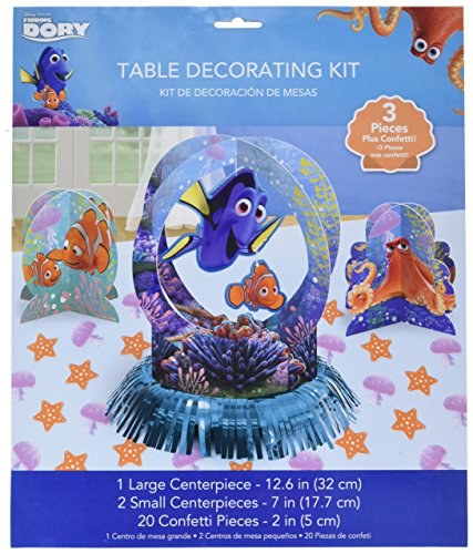 Finding Dory Table Decorating Kit 23 Piece (Finding Nemo Birthday Party Decorations)