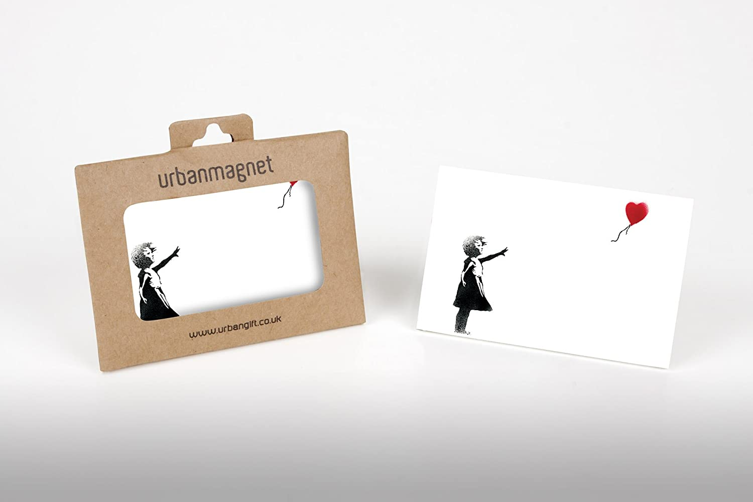 Banksy Balloon Girl Photo Fridge Magnet White 6x9cm Urbangift