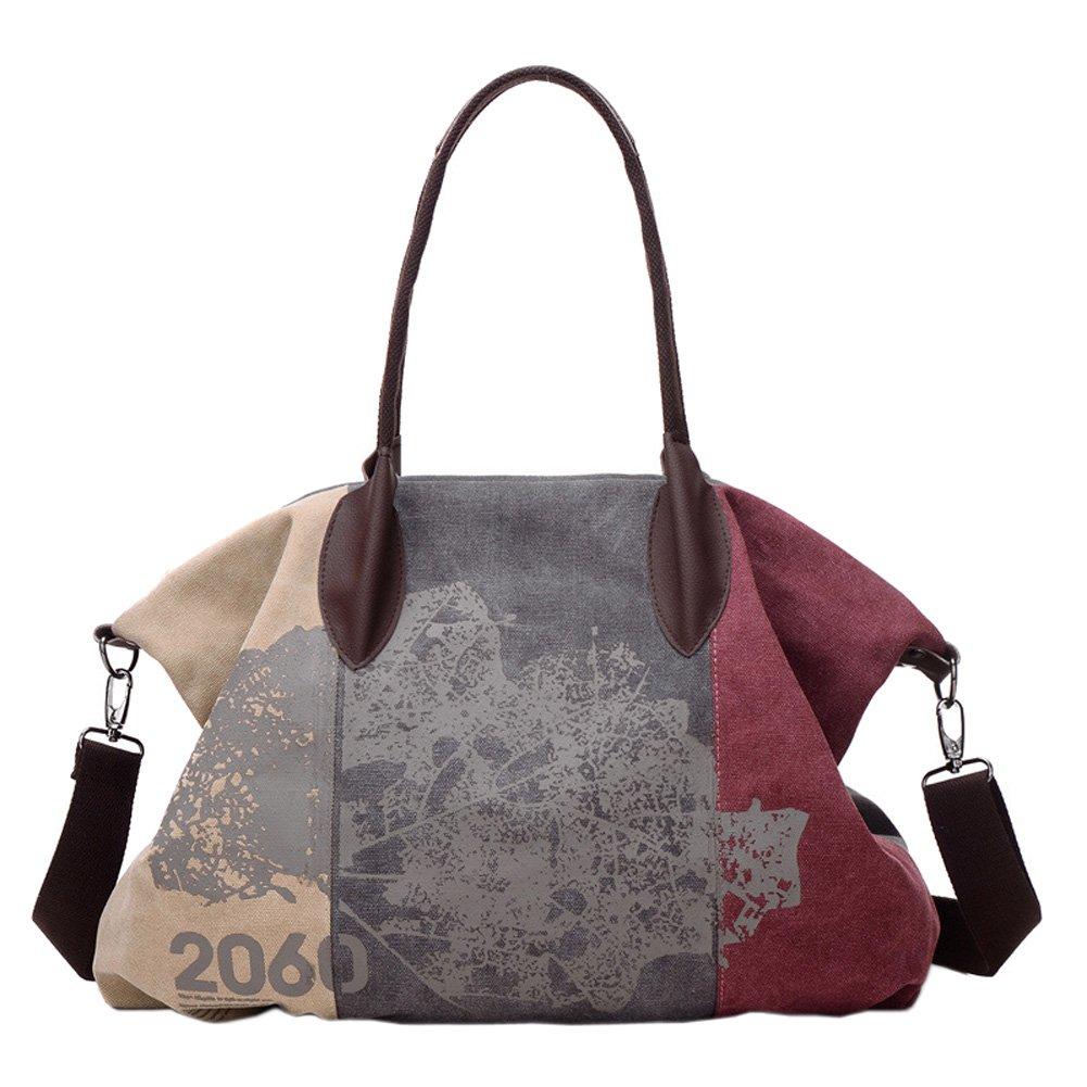EasyHui Canvas Crossbody Bag Purse for Women Girls Vintage Shoulder Bag Large Capacity Bag