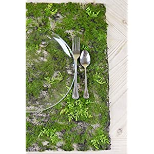 "Richland Artificial Moss & Fern Place Mat 20"" 110"