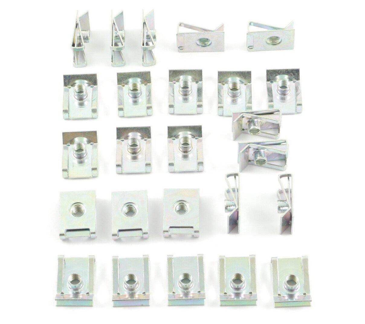 Tech-Parts-Koeln 25 Blechmutter Verkleidungsclips / Clip Schnappmutter - M5 Metrische Gewinde