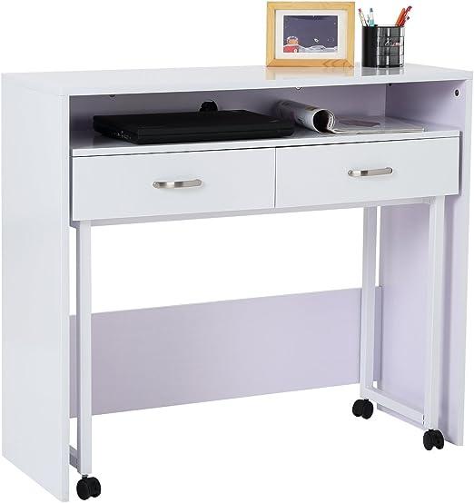 Homcom 21WT Escritorio/mesa de ordenador con tablero extraíble ...