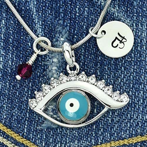 Sparkling Crystal Block Ring Chandelier: Amazon.com: Evil Eye Blue Personalized Pendant Sparkling