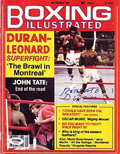 Roberto Duran Autographed Boxing Illustrated Magazine Cover #S48931 PSA/DNA Certified Autographed Boxing Magazines