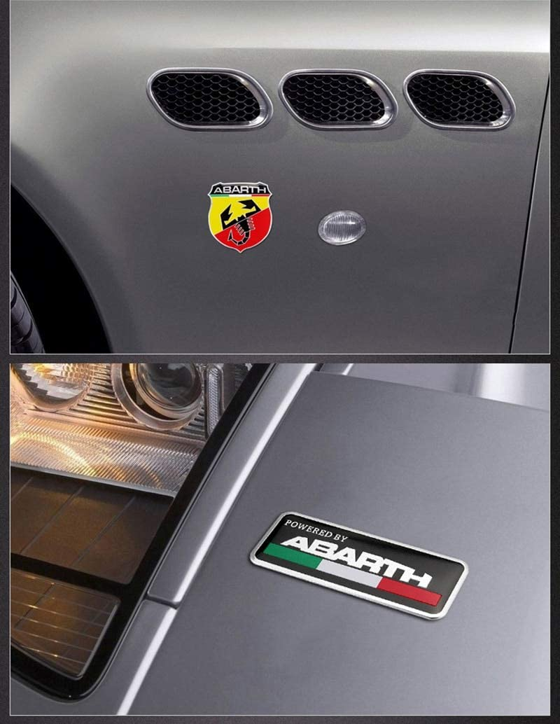 3D Metal Italy Abarth Scorpion Adhesive Badge Emblem Decal Sticker for Fiat Viaggio Abarth Punto 124 125 500 Car Styling Color Name: Gray