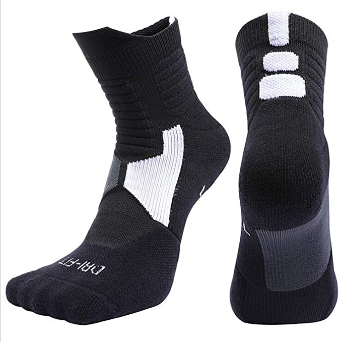 Outdoor Sport Professional Cycling Socks Basketball Soccer Football Running Hiking Socks Calcetines Men Women Black M