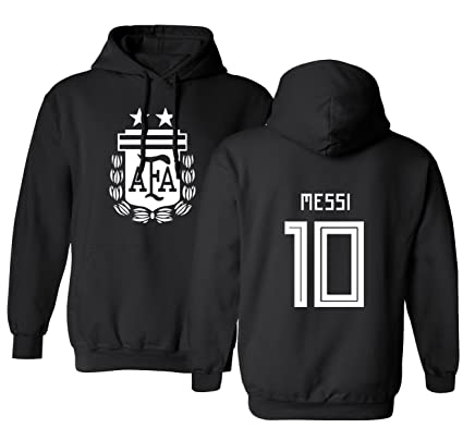 42d97a5f47fe Tcamp Argentina 2018 National Soccer  10 Lionel MESSI World Championship Men s  Hooded Sweatshirt (Black