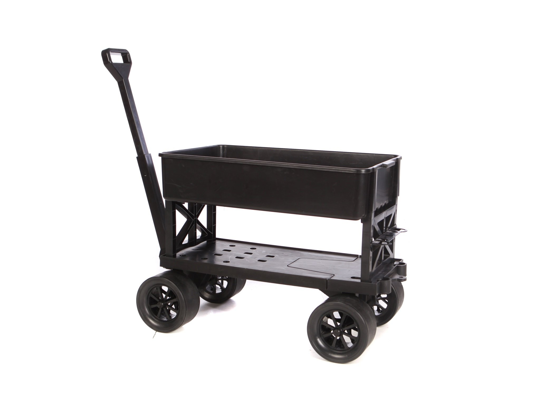 Mighty Max Cart All Purpose Utility and Garden Cart with Black Tub, 400 Lb Capacity