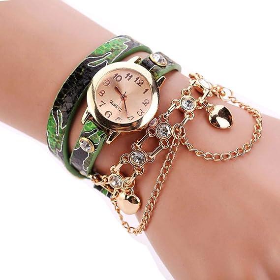 Women Rivet Chain Watches Sale, Women Vintage Analog Quartz Watch Rhinestone Bracelet Wrist Watch