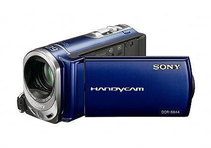 amazon com sony dcr sx44 flash memory handycam camcorder blue rh amazon com sony handycam dcr-sx44 software download sony handycam dcr sx45 manual