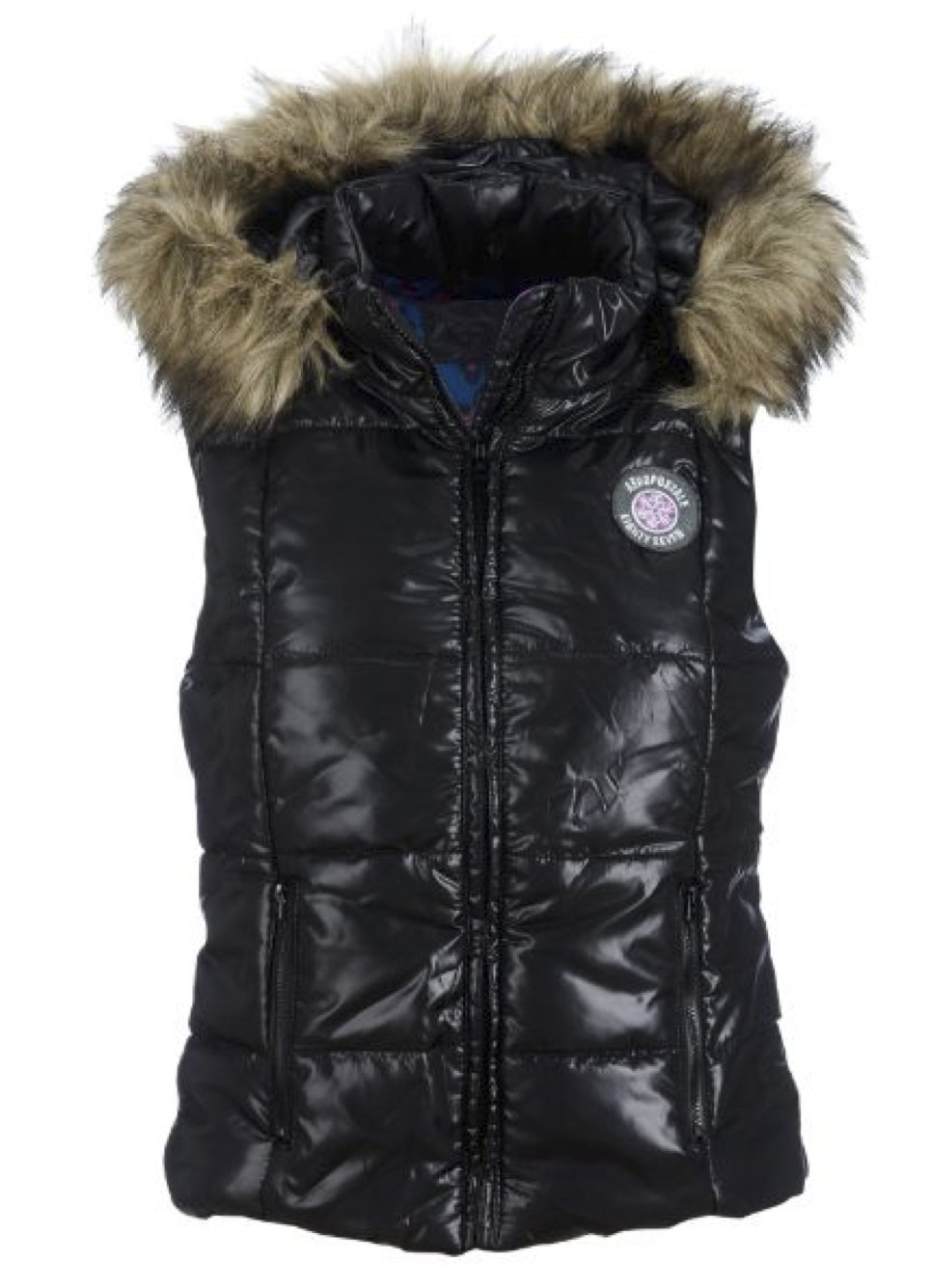 Aeropostale Womens Detachable Hooded Puffer Vest 001 S