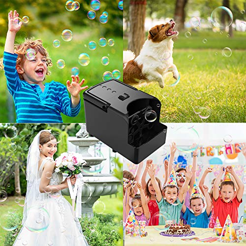 LSXD Bubble Machine, Automatic Bubble Blower, Portable Bubble Makerfor Kids, USB or Battery Operated Bubble Toys for Parties Birthdays Outdoor & Indoor Use with High Output