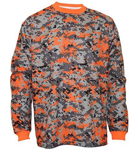 VIZARI Deceptor Camo GK Jersey, Orange/Grey/Black, Youth Large (Camo Goalie Jersey)