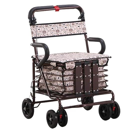 III- Andador plegable con ruedas - Andador rodante con 4 ruedas ...