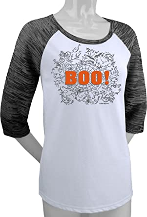 Amazon.com: BOO! Women's Halloween Shirt (Raglan): Clothing
