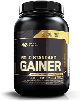 Optimum Nutrition Gold Standard Gainer, Mass Gainer, Proteínas en Polvo para Aumentar Masa Muscular y Recuperación, Chocolate, 8 Porciones, 1,62 kg