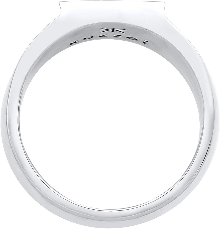 11 mm Kuzzoi Siegelring Herrenring poliert Robuster Biker Schmuck mit rechteckiger Oberfl/äche 0607322120 in 925 Sterling Silber Bandring massiv Ring f/ür M/änner in der Ringgr/ö/ße 54 66