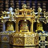 Dollbling Opening The Light Gold Solar Energy Eight Treasures Prayer Wheel