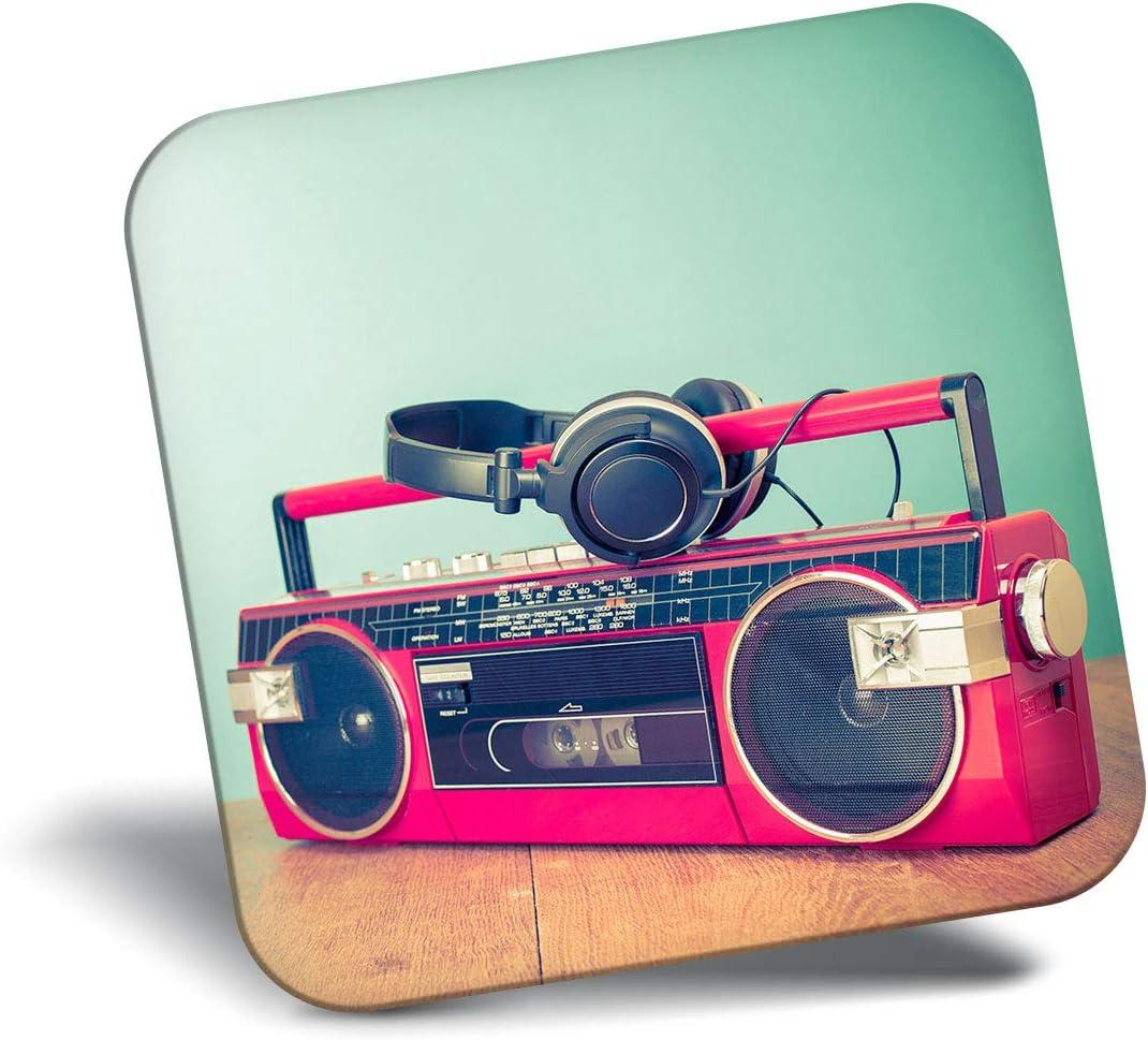 Destination Vinyl ltd Awesome Fridge Magnet - Retro Ghetto Blaster Cassette Tape 14276