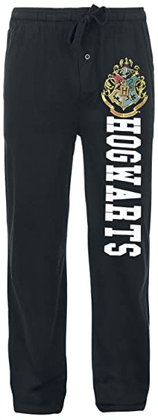 Harry Potter Hogwarts Pantalones de Pijama Negro XS