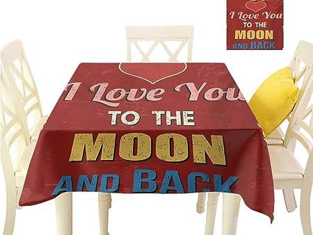 familytaste, Mantel con Texto en inglés I Love You, diseño de ...
