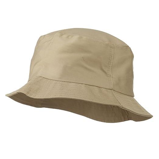 e908667ba01 OTTO Plain Cotton Twill Bucket Hat - Khaki at Amazon Men s Clothing ...
