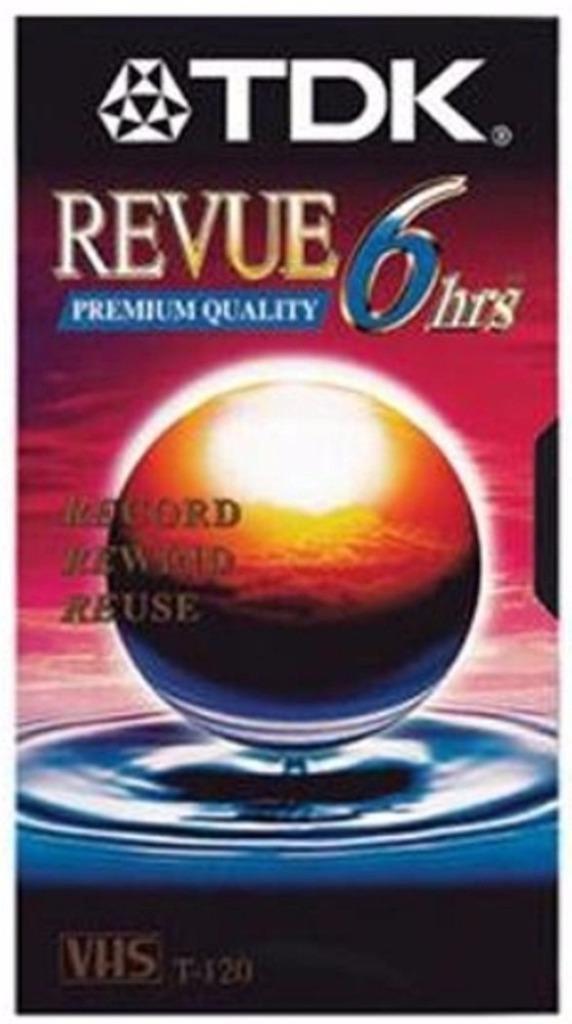 TDK Revue 6 hour VHS 10 pack