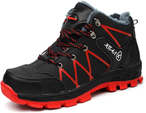 COOU Zapatos de Seguridad Invierno para Hombre Impermeables ...