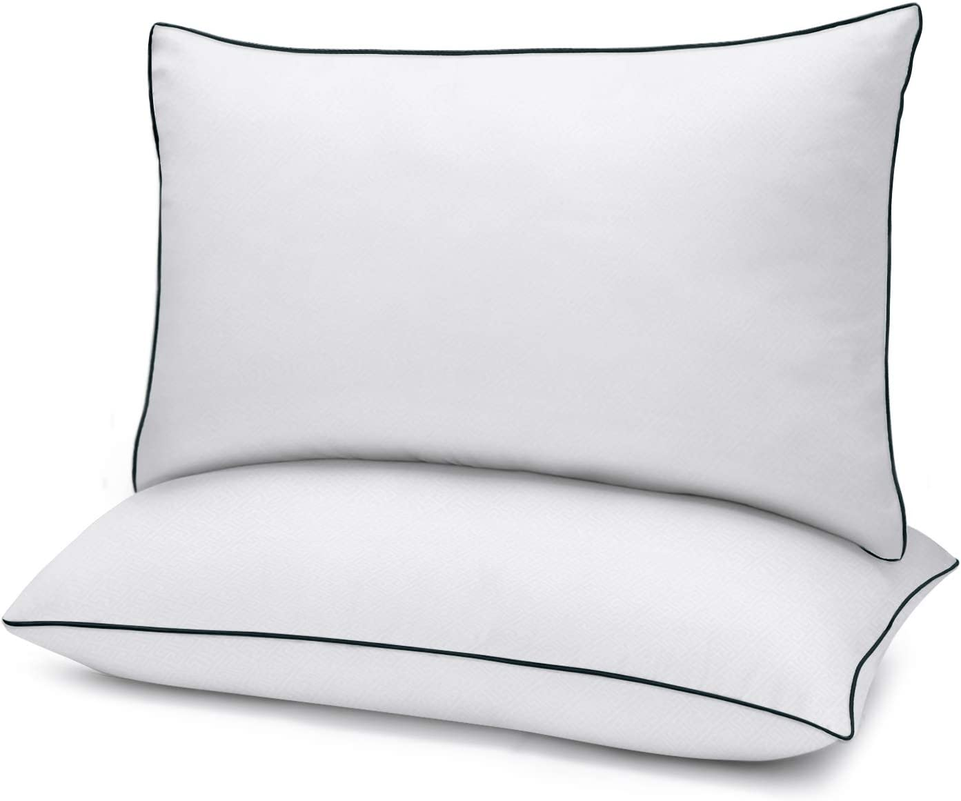 2-Pack Queen Size Bed Pillows for Sleeping Mid Loft Soft Fiber Fill 20x30