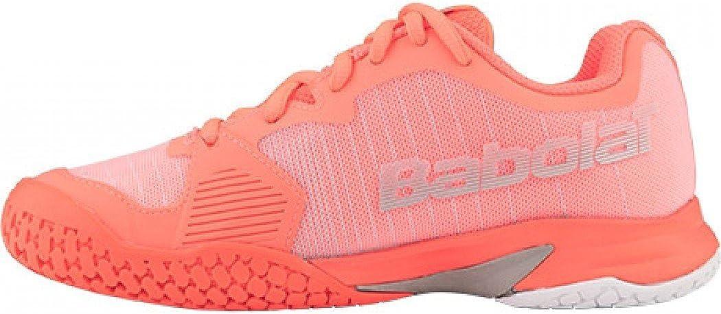 Babolat Chaussures Gar/çon Jet All Court Junior Fushia//Gris PE 2018